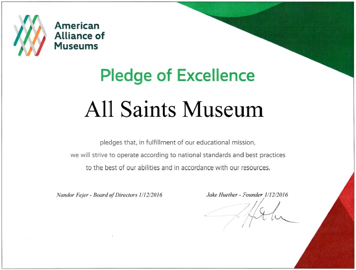 All Saints Pledge of Excellence